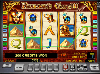 Играть онлайн в Pharaohs Gold III